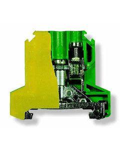Zlaczka szynowa ochronna 10 zólto-zielona