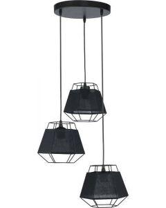 Lampa wiszaca CRISTAL 3x60W Czarny TK LIGHTING