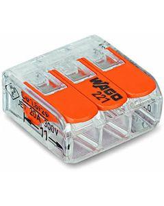 Szybkozlaczka WAGO 3x4 pomaranczowy