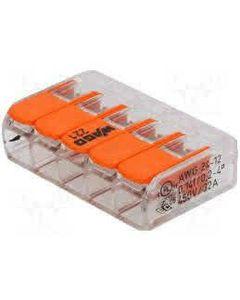 Szybkozlaczka WAGO 5x4 pomaranczowy