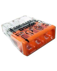 Szybkozlaczka WAGO 3x2,5 pomaranczowy