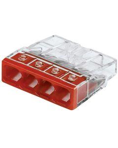 Szybkozlaczka WAGO 4x2,5 czerwony