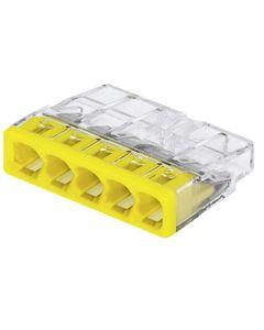 Szybkozlaczka WAGO 5x2,5 zólty