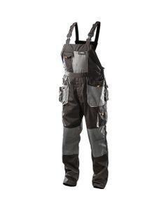 Spodnie robocze na szelkach rozmiar L/52 NEO szary