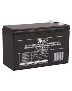 Akumulator ołowiowy AGM 12V 7,2Ah F4,7 B9654