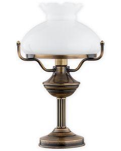Alladyn lampka stołowa duża 1 pł. / patyna