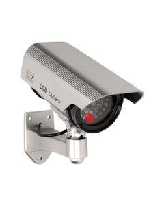 Atrapa kamery monitorującej CCTV, bateryjna, srebrna OR-AK-1208/G