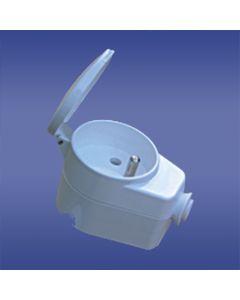 Gniazdo wtyczkowe AWA-GKB 16A 2P+Z 230V IP20 białe 51.45