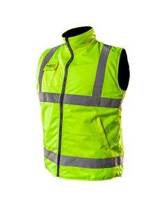 Bezrekawnik roboczy dwustronny jedna strona odblaskowa wodoodporna pokryta PU druga strona polar rozmiar L 81-520-L