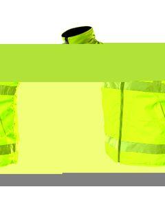 Bezrekawnik roboczy dwustronny jedna strona odblaskowa wodoodporna pokryta PU druga strona polar rozmiar XL 81-520-XL