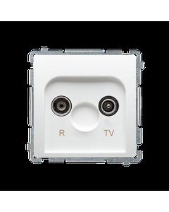 Gniazdo antenowe RTV przelotowe BASIC Bialy