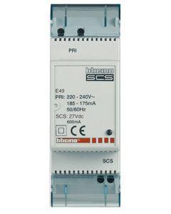 MyHome Zasilacz kompaktowy 230V AC/ 27V DC 0,6A, montaż na szynie TH35 E49