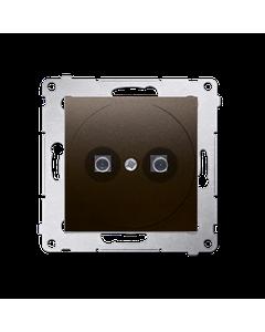 Gniazdo pojedyncze ekwipotencjalne SIMON 54 Brazowy