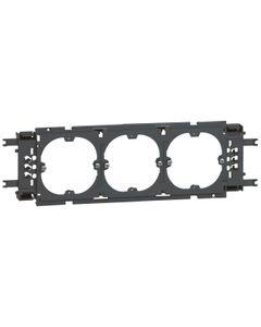 Uchwyt do montażu osprzętu DLP 3 mechanizmy 60mm pokrywa 85mm aluminiowy 011169