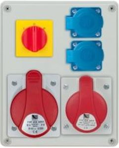 Rozdzielnica R-BOX 240 1x32A/5P 1x16A/5P 2x250V, wył. L/P IP44 B.1095W