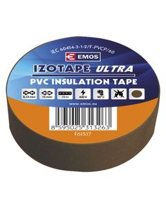 Tasma izolacyjna PVC 15mm/10m brazowa EMOS