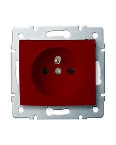 Gniazdo zasilajace pojedyncze, francuskie, czerwone (DATA) LOGI 02-1252-134 czw.
