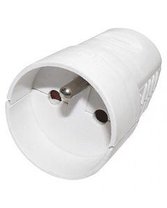 Gniazdo przenośne 10/16A 250V 2P+Z białe YC-FAX-4 P0042