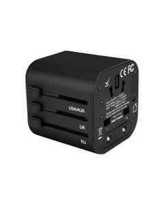 GOworld USB uniwersalny adapter podróżny do ponad 200 krajów świata, 100-240V, 8A, 2 x USB, 5V 2,4A OR-AE-13174
