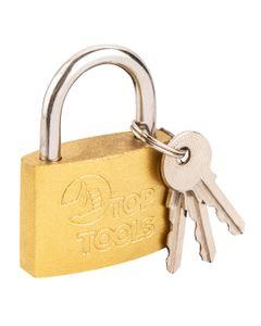 Kłódka żeliwna z miedzianą powłoką 50 mm 2 klucze 90U272