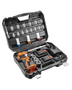 Klucz udarowy akumulatorowy 1/2 cala 200Nm 2x 18V 2Ah 08-600