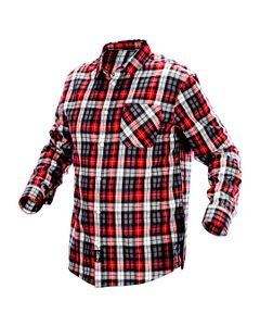 Koszula flanelowa krata czerwono-czarno-biała, rozmiar XL 81-540-XL