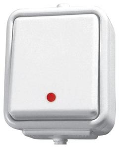 Lacznik pojedynczy z podswietleniem CEDAR IP44 SCHNEIDER