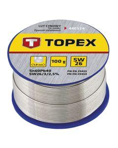 Lut cynowy 60% Sn drut 1,0mm 100g 44E514