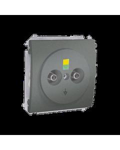 Gniazdo pojedyncze ekwipotencjalne CLASSIC Aluminium