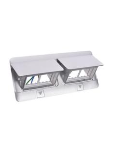 Pop-up Puszka podłogowa 100x255x61,2mm 8-modułowa aluminium 054013