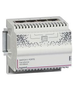 Switch modułowy na szyne DIN 9V 10/100...