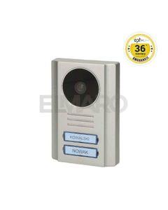 Wideo kaseta OPT 2-rodzinna z kamerą szerokokątną, kolor, wandaloodporna, diody LED, podświetlane miejsce na nazwisko, do zestawów EX