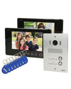 Zestaw wideodomofonowy 2-rodzinny bezsłuchawkowy, kolor 7