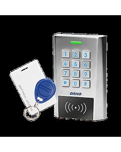 Zamek szyfrowy szeroki z czytnikiem kart i breloków zbliżeniowych, IP66, 2 przekaźniki 2A , wymiary ...