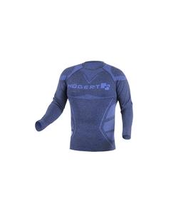 Koszulka OSTE bezszwowa termiczna kolor niebieski M-L HT5K390-M-L
