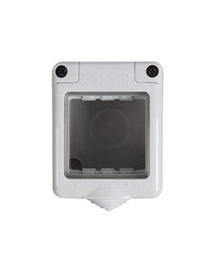 Puszka natynkowa 45x45mm, IP55 BIURO 04-2030-102 bi