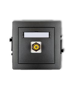 Gniazdo pojedyncze multimedialne RCA DECO Grafitowy