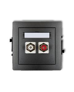 Gniazdo podwójne multimedialne RCA DECO Grafitowy