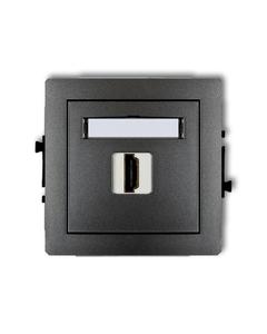Gniazdo pojedyncze multimedialne HDMI DECO Grafitowy