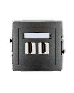 Gniazdo podwójne multimedialne HDMI DECO Grafitowy