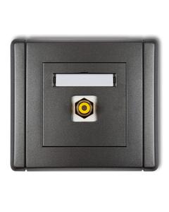 Gniazdo pojedyncze multimedialne RCA FLEXI Grafitowy