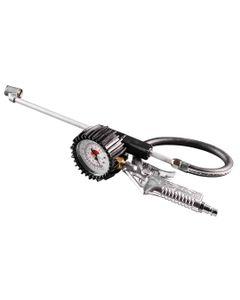 Pistolet do pompowania z manometrem o 63 mm długa końcówka 12-544