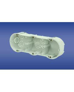 Puszka podtynkowa potrójna 60mm regips biała PKw-3 13.73