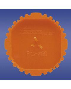 Pokrywa sygnalizacyjna fi 60mm okrągła pomarańczowa PTs 60 13.16 /50szt./