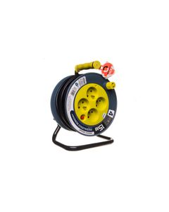 Przedłużacz bębnowy MINI 15m 4x230V /PVC 3x1mm2/ limonkowy OR-AE-1339/L