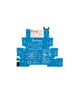 Przekaźnikowy moduł sprzęgający 1P 6A 230-240V AC 6,2mm styki AgNi do LINII DŁUGICH 38.51.3.240.0060...