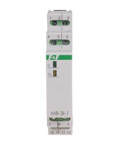 Przetwornik prądu trójfazowy 0-5A z wyjściem MODBUS RTU MAX-MB-3I-1-5A