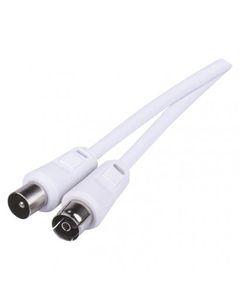 Przewód antenowy IEC 2,5m biały SB3002