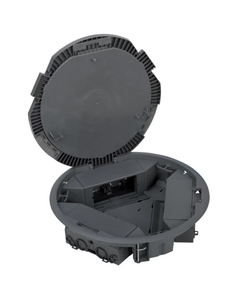 Simon Connect Puszka KF podłogowa okrągła fi 300mm 6xK45 kątowa szara KF300C/1