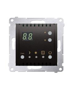 Simon 54 Regulator temperatury z wyświetlaczem, wewnętrzny czujnik temperatury antracyt DTRNW.01/48...